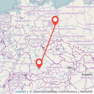 München Fürstenwalde Mitfahrgelegenheit Karte