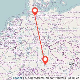München Elmshorn Bahn Karte