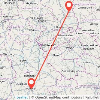 München Cottbus Bus Karte