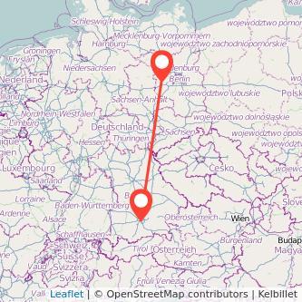 München Brandenburg an der Havel Bus Karte