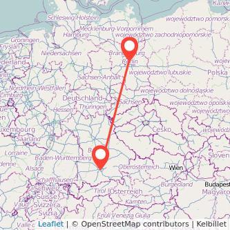 München Berlin Mitfahrgelegenheit Karte