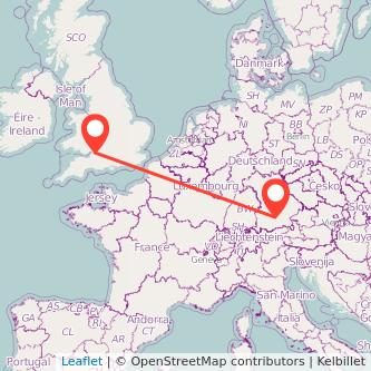Munich Bristol train map