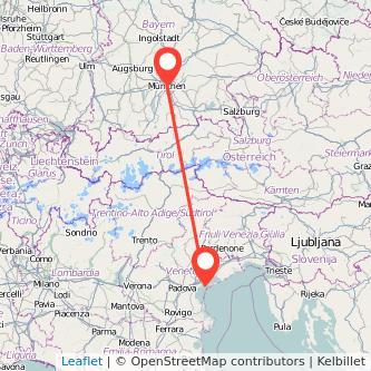 München Venedig Mitfahrgelegenheit Karte
