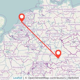 Munich Amsterdam bus map