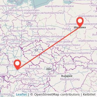 München Warschau Bahn Karte