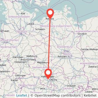 Merseburg Rostock Bus Karte