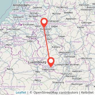 Meerbusch Neunkirchen Bus Karte