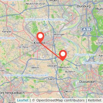 Meerbusch Krefeld Bus Karte