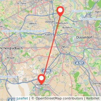 Meerbusch Grevenbroich Bus Karte