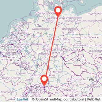 Mecklenburg Friedrichshafen Bus Karte