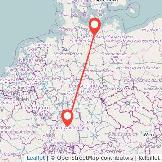 Mecklenburg Böblingen Bus Karte