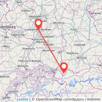 Mannheim Oberstdorf Bahn Karte