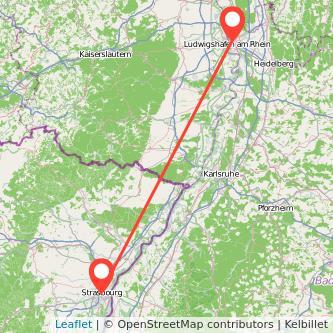 Mannheim Straßburg Bahn Karte