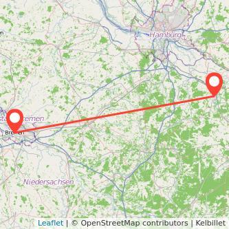 Lüneburg Bremen Bus Karte