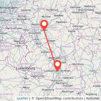 Ludwigshafen Hagen Bus Karte