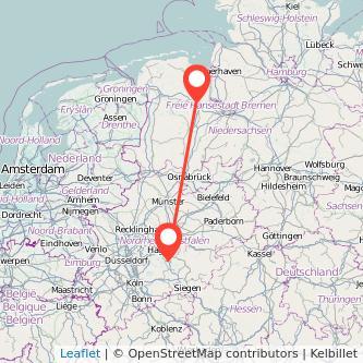 Lüdenscheid Oldenburg Bus Karte