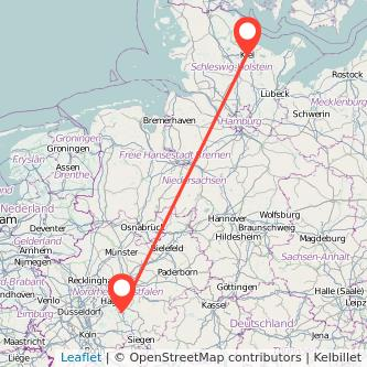 Lüdenscheid Kiel Bus Karte