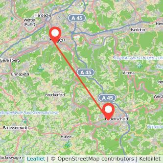 Lüdenscheid Hagen Bus Karte