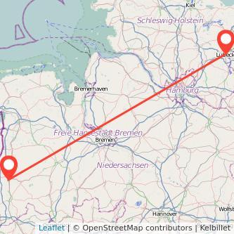 Lübeck Meppen Bahn Karte