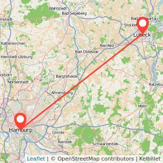 Lübeck Hamburg Bahn Karte