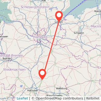 Lübeck Celle Bahn Karte