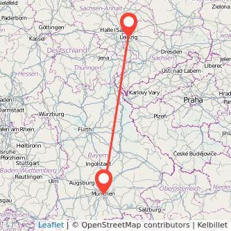 Leipzig München Mitfahrgelegenheit Karte