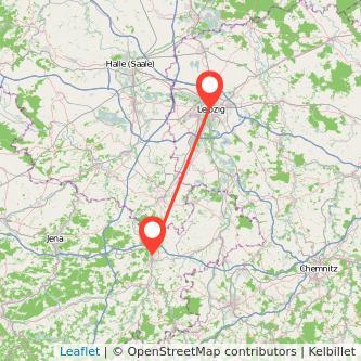 Leipzig Gera Bus Karte