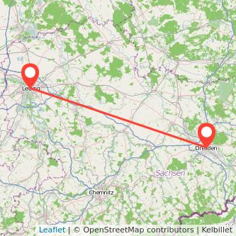 Leipzig Dresden Bahn Karte