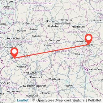 Leipzig Bonn Mitfahrgelegenheit Karte