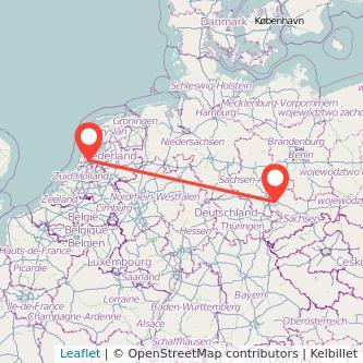 Leipzig Amsterdam Bus Karte