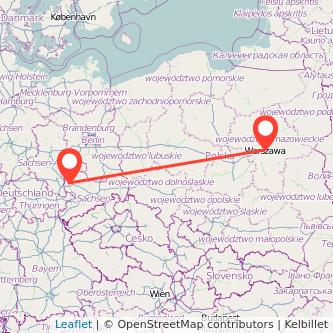 Leipzig Warschau Mitfahrgelegenheit Karte