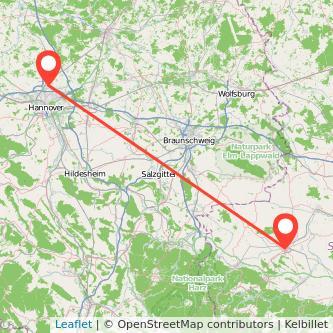 Langenhagen Halberstadt Bus Karte