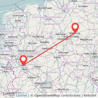 Köln Wolfsburg Bahn Karte
