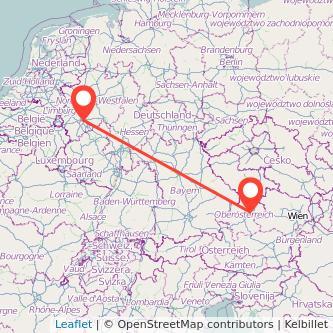 Köln Linz Mitfahrgelegenheit Karte