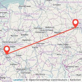 Köln Potsdam Mitfahrgelegenheit Karte