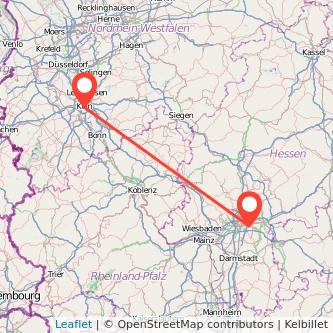 Köln Offenbach Mitfahrgelegenheit Karte