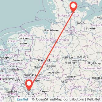 Köln Kiel Bahn Karte