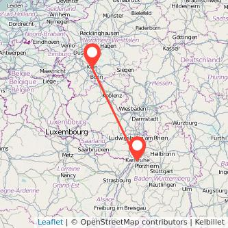 Köln Karlsruhe Bahn Karte