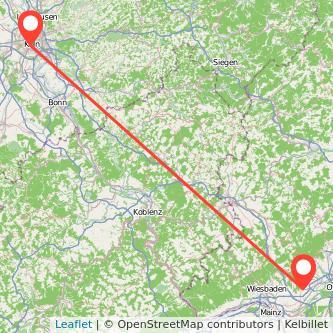 Köln Hofheim am Taunus Mitfahrgelegenheit Karte