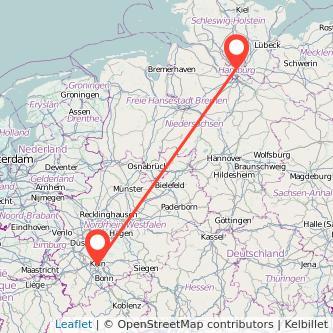 Köln Hamburg Mitfahrgelegenheit Karte