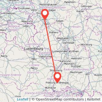 Köln Freiburg im Breisgau Bahn Karte