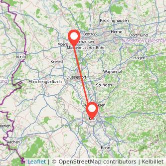 Köln Duisburg Mitfahrgelegenheit Karte