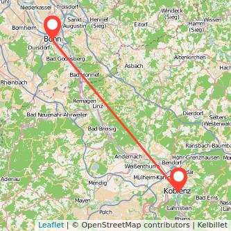 Koblenz Bonn Mitfahrgelegenheit Karte