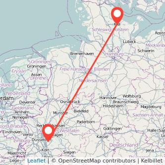 Kiel Solingen Bus Karte