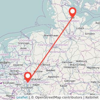 Kiel Oberhausen Bus Karte