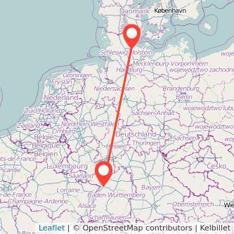 Kiel Karlsruhe Bahn Karte