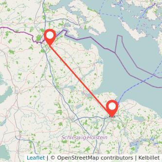 Kiel Flensburg Bahn Karte