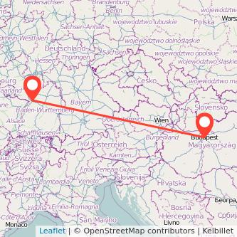 Karlsruhe Budapest Mitfahrgelegenheit Karte