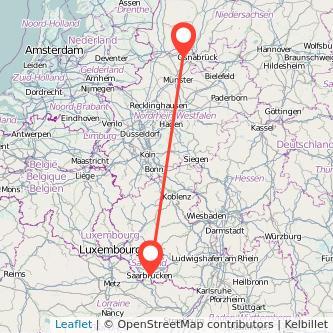 Ibbenbüren Saarbrücken Bus Karte