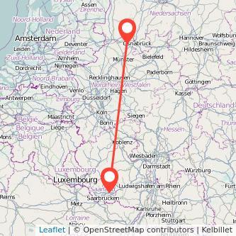 Ibbenbüren Neunkirchen Bus Karte